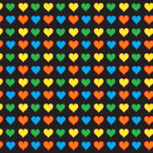 милые маленькие сердца бесшовный фон — Cтоковый вектор