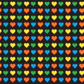 Modèle sans couture de joli petits coeurs — Vecteur
