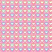 素敵な小さな心のシームレスなパターン — ストックベクタ