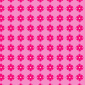 Pink flowers seamless vector background — Stock Vector