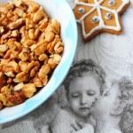 Christmas preparation background — Stock Photo