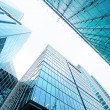 Modern glass skyscrapers - Stock Photo
