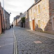 Old street in St Andrews, Scotland - Stock Photo