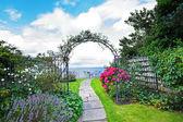 美丽、 旧、 花园 — 图库照片