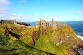 Dunluce castle, severní irsko — Stock fotografie