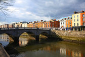 Dublin and The Liffey river — Stock Photo