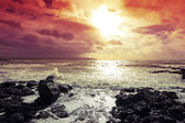 Beautiful dramatic sea and the sky — Stock Photo