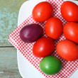 Easter time painted eggs — Stock Photo