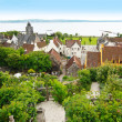Beautiful springtime view on Culross — Stock Photo