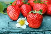 Fresh Strawbarries closeup — Stock Photo