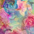 图库照片: Vintage floral, romantic background