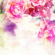 Romantic pink roses background — Stock Photo