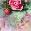 Romantic pink roses background — ストック写真