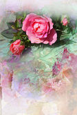 Fond de roses rose romantique — Photo
