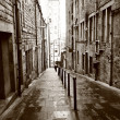 Old streets of Edinburgh — Stock Photo