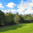 Princes Street Gardens in Edinburgh, Scotland — Stock Photo