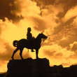 Stock Photo: Boer War Monument In Princes Street Gardens in sunset