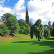 Princes Street Gardens in Edinburgh, Scotland — Foto de Stock