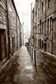 Old streets of Edinburgh — Stock Photo