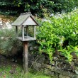Birdhouse in the garden — Stock Photo