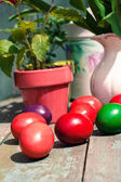 Beautiful Easter painted eggs — Foto Stock