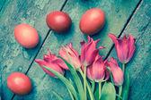 Piękne wielkanocne jajka malowane — Zdjęcie stockowe