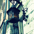 Old stylish street lamp — Stock Photo
