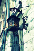 Old stylish street lamp — Stok fotoğraf