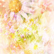 Pretty daisies artistic background — Stock Photo #43999589