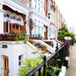 English Homes.Row of Typical English Terraced Houses at London. — Stock Photo #48821355