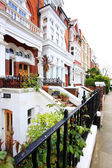English Homes.Row of Typical English Terraced Houses at London. — Stock Photo