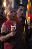 Tibetan Monk pray — Stock Photo