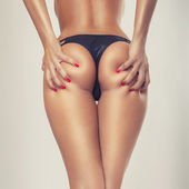 Sexy girl butt, without cellulite — Stock Photo