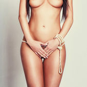 Attractive glamour girl nude body — Foto Stock