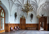 Chamber in nice Gothic castle in Europe — Stock Photo