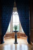 Luxury interior chateau in europe, lighting window — Stock Photo