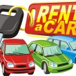 Stock Vector: Car rent