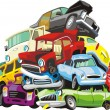 Bunch of a cars - Stock Vector