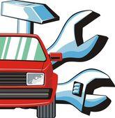 Car fix sign — Stockvector