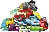 Bunch of a cars — Stock Vector