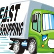 Fast shipping sign — Stock Vector