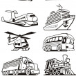 Stock Vector: Transport set