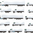 Trucks set — Stock Vector #33478763