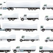 Trucks set — Stock Vector