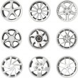 Set of a car wheel discs — Stock Vector