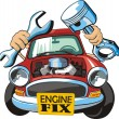 Engine fix — Stock Vector