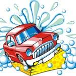 Car wash — Stock Vector