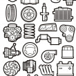 Stock Vector: Car parts