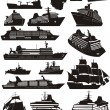 Ship silhouettes — Stock Vector #38245411