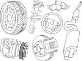 Car parts — Stockvector